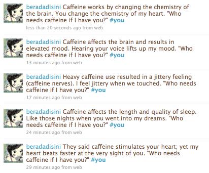 Who needs caffeine if I have you?