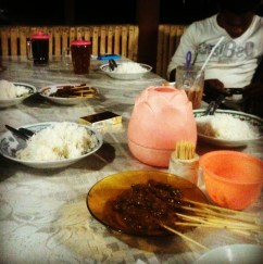 A humble New Year's Eve dinner in Alor.