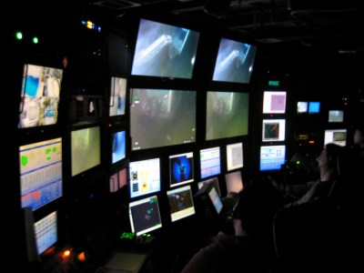 ROV (Remotely Controlled Vehicle) Control room: Jenna Judge June 2012