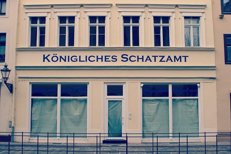 2015etik itxita dagoen Alemaniako Erreinuaren bankua, Wittenbergen.