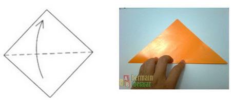 Membuat Origami Anjing a
