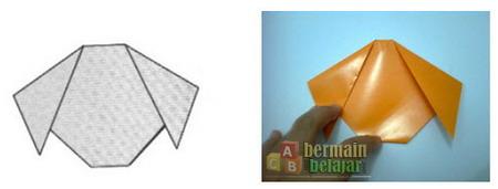 Membuat Origami Anjing e