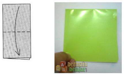 membuat origami kodok b