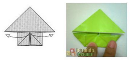 membuat origami kodok l