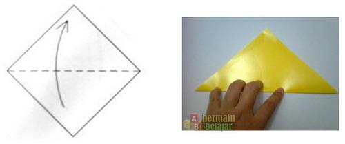 Membuat Origami Kucing a