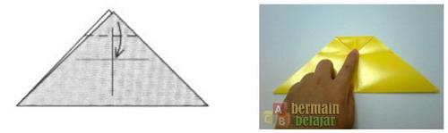 Membuat Origami Kucing f