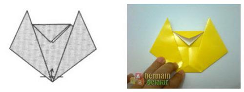 Membuat Origami Kucing h