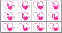Huruf Bentuk Hati 10