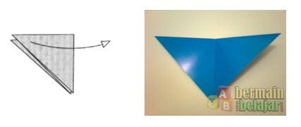Membuat Origami Berbentuk Kuda c