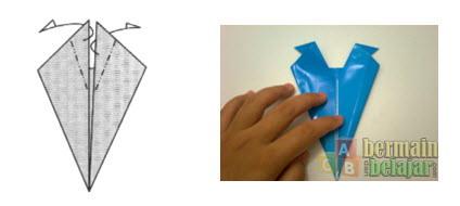 Membuat Origami Berbentuk Kuda e