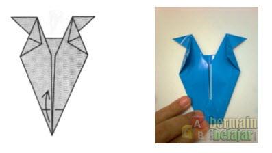 Membuat Origami Berbentuk Kuda g
