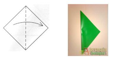 Membuat Origami Batang Bunga a