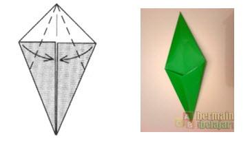 Membuat Origami Batang Bunga d