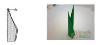 Membuat Origami Batang Bunga g