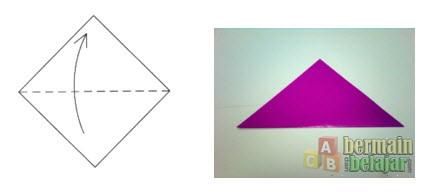 Membuat Origami Bunga Tulip a