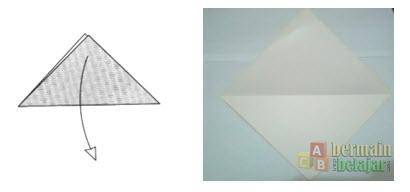 Membuat Origami Ikan b