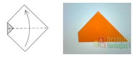 Membuat Origami Ikan d