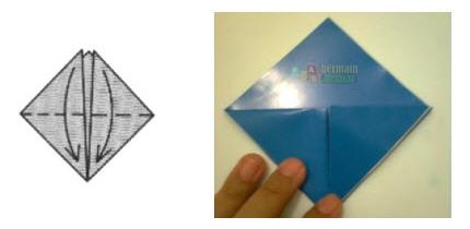 Membuat Origami Topi Samurai c