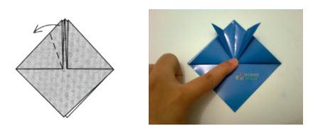 Membuat Origami Topi Samurai e