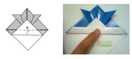 Membuat Origami Topi Samurai g