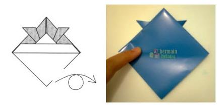 Membuat Origami Topi Samurai h