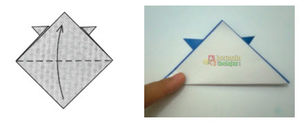 Membuat Origami Topi Samurai i