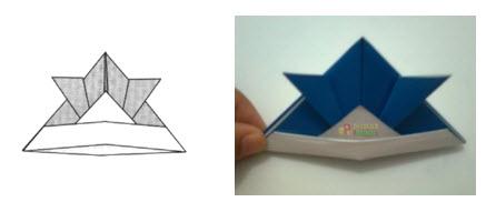 Membuat Origami Topi Samurai k