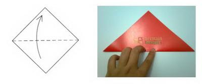 Membuat Origami Kelinci a