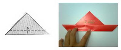 Membuat Origami Kelinci b