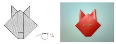 Membuat Origami Kelinci d