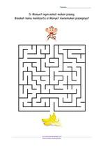 Maze Monyet Mencari Pisang_Menengah