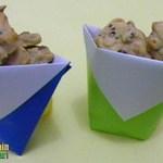 Membuat Origami Cawan Mini