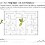 Maze: Ulat yang lapar Mencari Makanan
