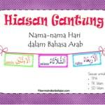 Hiasan Gantung: Nama-Nama Hari dalam Bahasa Arab
