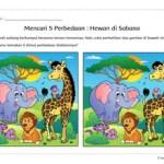 Temukan Perbedaan: Hewan di Sabana