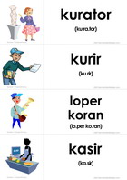 flashcards profesi