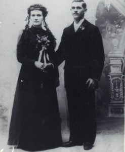 William and Hulda (Schultz) on their wedding day