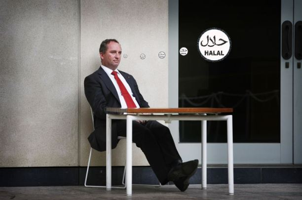 Barnaby Joyce halal thought bubble
