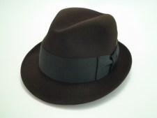Resistol Hats Brown 3X Beaver Fur Felt Self-Conforming Fedora Hat