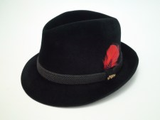 Dobbs Fifth Avenue Hunter Black Velour Finish Fur Felt Fedora Hat