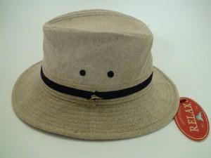 Tommy Bahama Relax Fit Beige Linen Outdoor Safari Hat