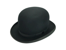 Stetson Excellent Quality Black Fur Felt Bowler Derby Hat