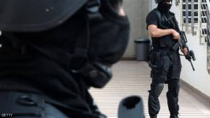 Members of the Moroccan special forces stand guard inside the Moroccan Central Bureau of Judicial Investigation (BCIJ) building during a press conference by the BCIJ's chief Abdelhak El Khayyam on September 14, 2015 in Rabat. Moroccan authorities said on September 14 that five alleged extremists have been arrested in the coastal city of Essaouira. AFP PHOTO / FADEL SENNA        (Photo credit should read FADEL SENNA/AFP/Getty Images)