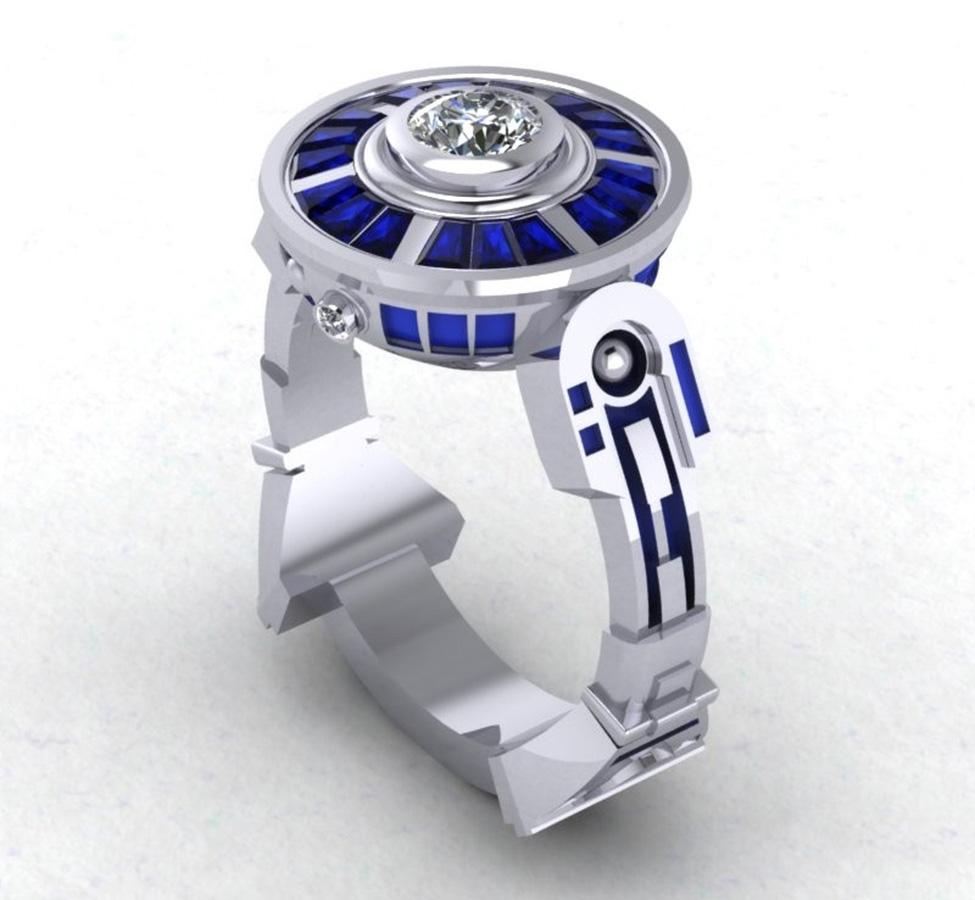 r engagement ring spiderman wedding ring