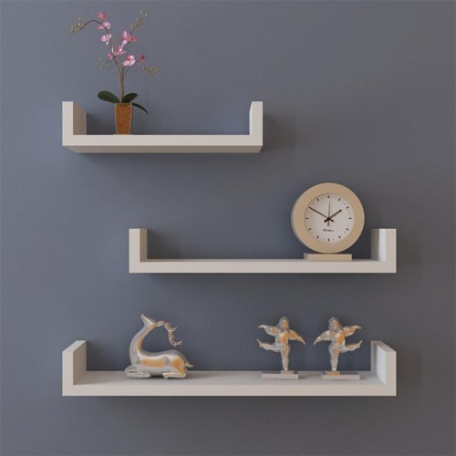 Medium Of Hanging Shelves Wall
