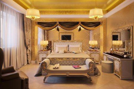 luxury empire style bedroom interior design