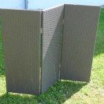 Paravent Raumteiler Polyrattan Sichtschutz Trennelement, 3-teilig, L 150x H130cm, mokka eastwest-tradingB00D8SC2J8