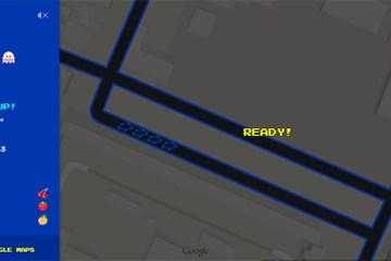 Pac-Man auf Google Maps