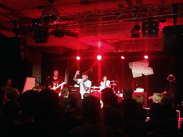 Frank Carter & The Rattlesnakes beim Reeperbahn Festival 2015. Foto: Isabel Herwig