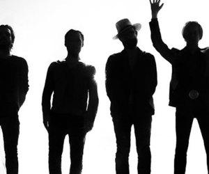 Refused Promo Bild Band Silhouette vor weißem Hintergrund